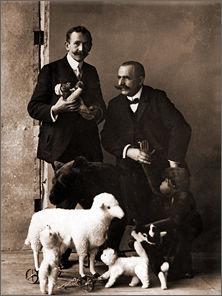 Paul Steiff (links) und Reinhard Schulte, 1908